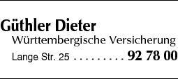 Anzeige Güthler Dieter