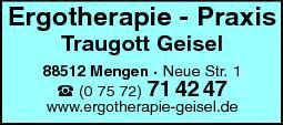 Anzeige Geisel Traugott