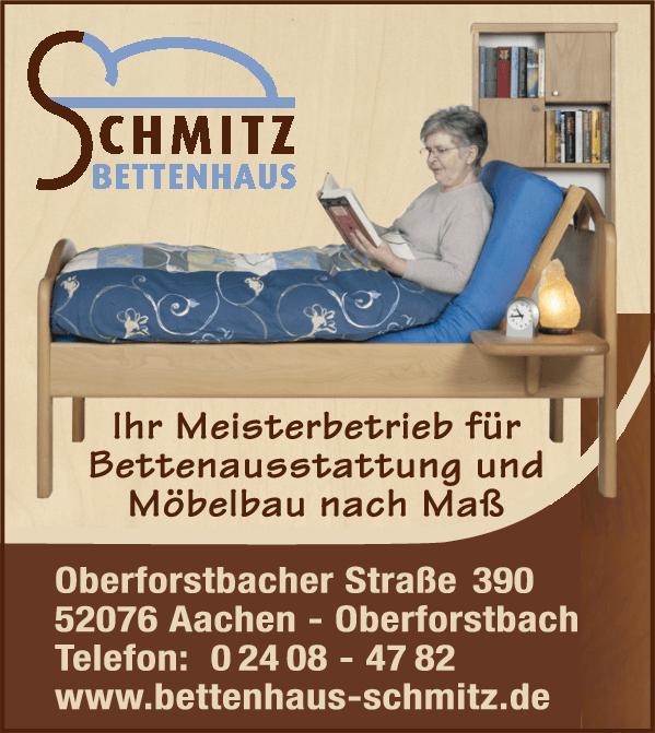 Anzeige Bettenhaus Schmitz GbR ,