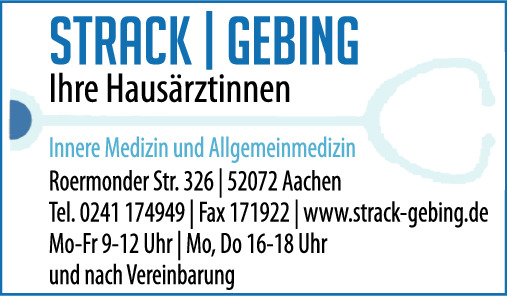 Anzeige Strack / Gebing Innere Medizin und Allgemeinmdeizin