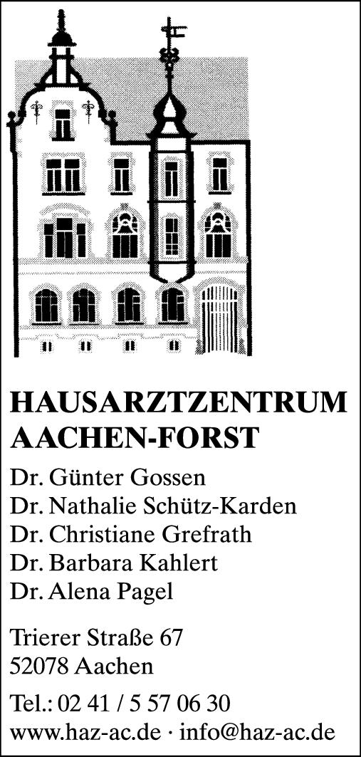 Anzeige Hausarztzentrum Aachen-Forst