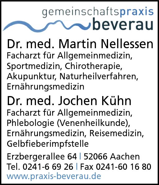 Anzeige Gemeinschaftspraxis Beverau, Nellessen Martin Dr. med., Kühn Jochen Dr. med.