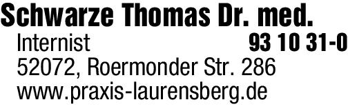 Anzeige Schwarze Thomas Dr. med. Internist