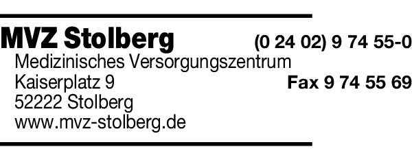 Anzeige MVZ Stolberg Medizinisches Versorungungszentrum