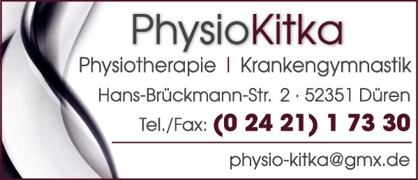 Anzeige Physio Kitka Krankengymnastik