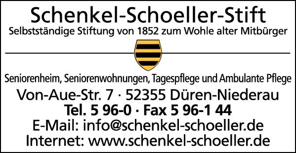 Anzeige Seniorenheim Schenkel-Schoeller-Stift Alten- und Pflegeheim Senioren- und Pflegeheim