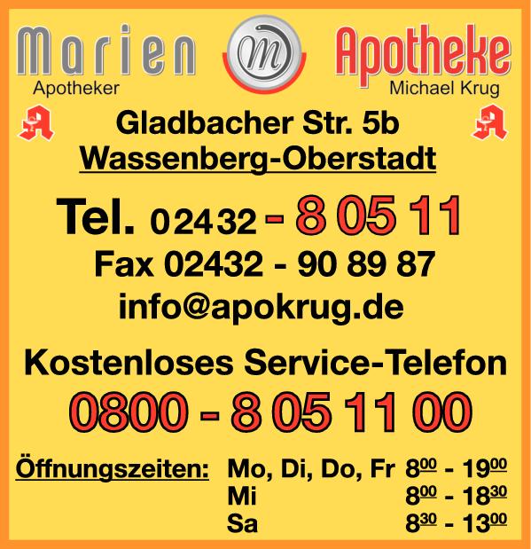 Anzeige Marien-Apotheke