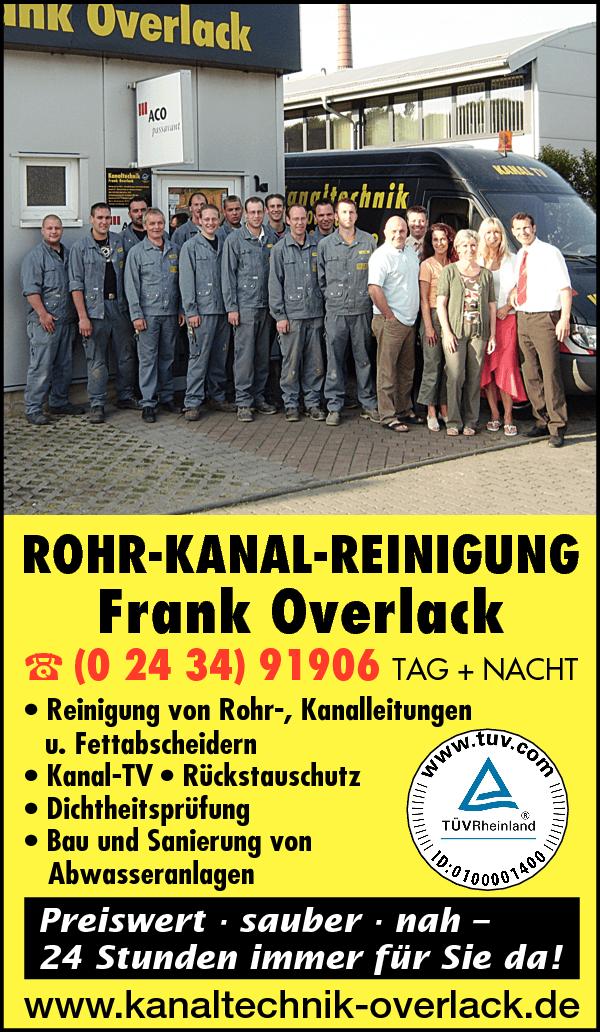Anzeige Kanaltechnik Overlack Frank