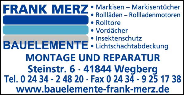 Anzeige Merz Frank Bauelemente
