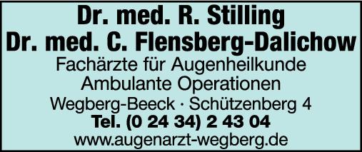 Anzeige Gemeinschaftspraxis Dres Rainer Stilling & Carin Flensberg-Dalichow Fachärzte für Augenheilkunde