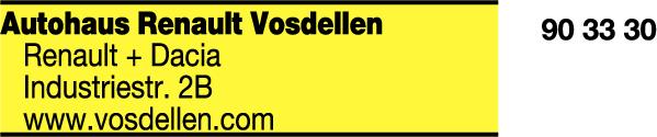Anzeige Autohaus Ewald Vosdellen GmbH & Co KG