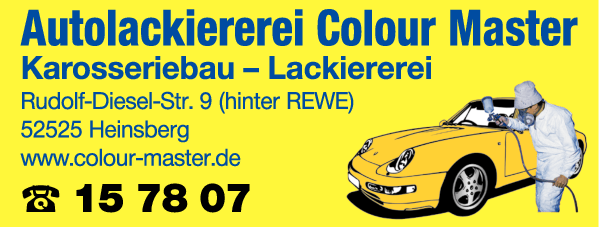 Anzeige Colour Master Autolackierungen
