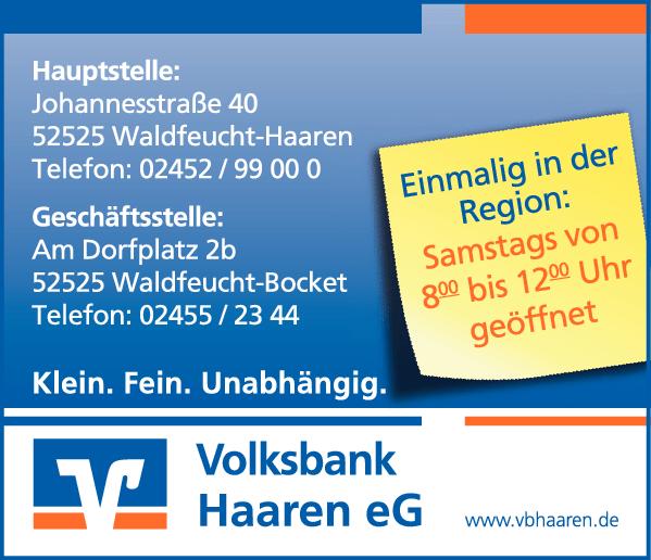 Anzeige Volksbank Haaren eG
