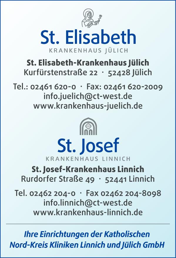 Anzeige St. Elisabeth-Krankenhaus Jülich GmbH