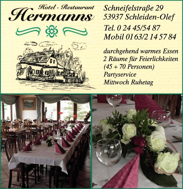 Anzeige Hermanns Hotel-Restaurant