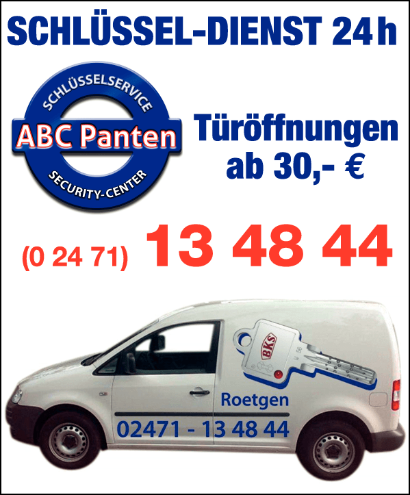 Anzeige Frank Panten Türöffnung ab 30 Euro - 24 H