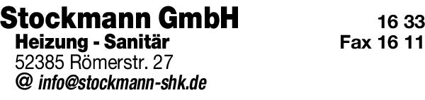 Anzeige Stockmann GmbH