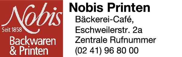 Anzeige Nobis Printen e.K., Backwaren und Printen Bäckereien