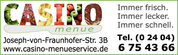 Anzeige CASINO Service Kielholz GmbH Essenbringdienst