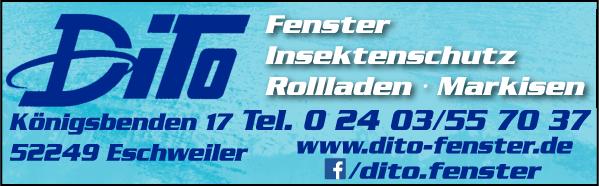 Anzeige Dito Bauelemente Inh. Thomas Deising Fensterfachbetrieb