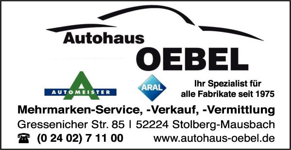 Anzeige Autohaus Oebel