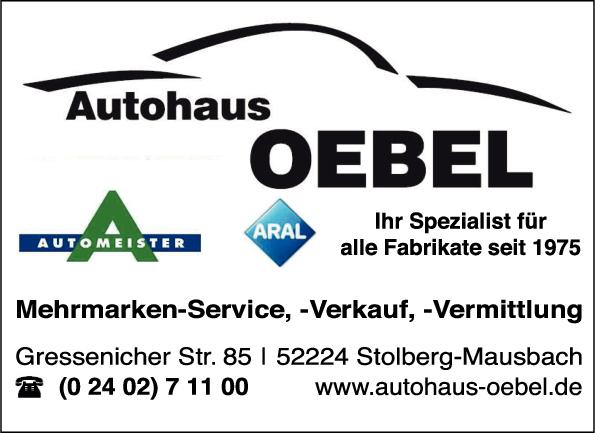 Autohaus Oebel In Stolberg In Das örtliche