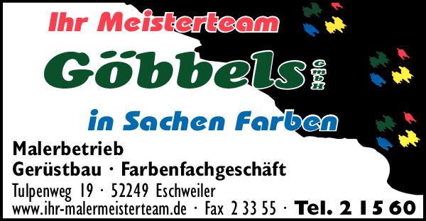 Anzeige Malermeister Arno Göbbels GmbH