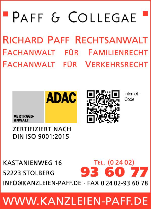 Paff Richard Rechtsanwalt in Stolberg ⇒ in Das Örtliche