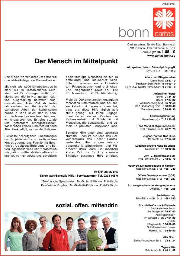 Anzeige Caritasverband für die Stadt Bonn e.V.