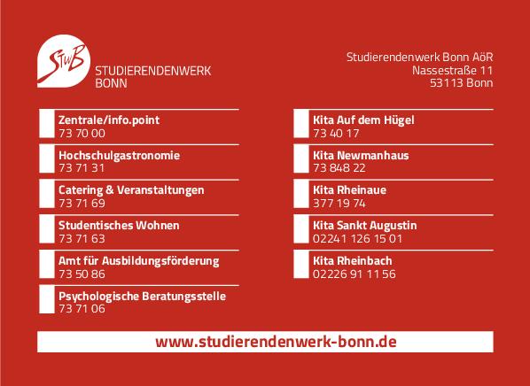 Anzeige Studierendenwerk Bonn AöR