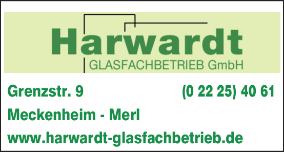 Anzeige Harwardt Glasfachbetrieb GmbH