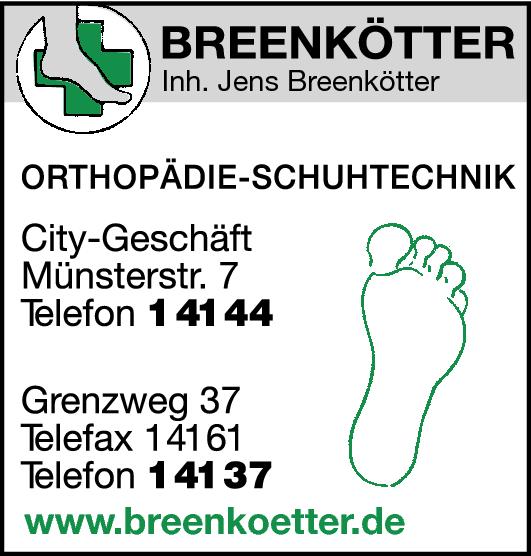 Anzeige Breenkötter Orthopädie Schuhtechnik