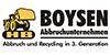Kundenlogo von Boysen Abbruchunternehmen OHG