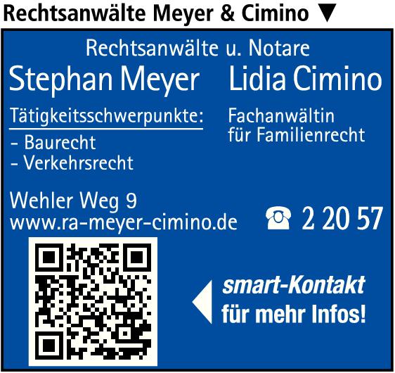 Anzeige Meyer Stephan u. Cimino Lidia Rechtsanwälte und Notare