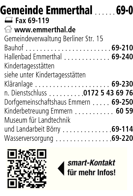 Anzeige Gemeinde Emmerthal