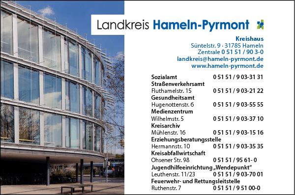Anzeige Kreisverwaltung Hameln-Pyrmont
