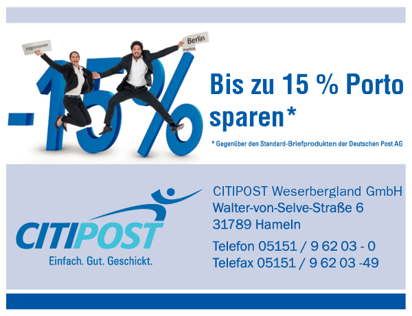 Anzeige CITIPOST Weserbergland GmbH
