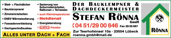 Anzeige Stefan Rönna GmbH Dachdeckermeister