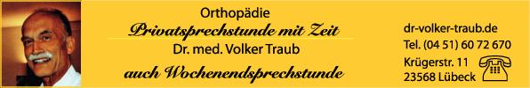Anzeige Traub Volker Dr.med. Facharzt für Orthopädie - Privatsprechstunde