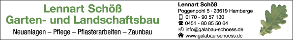 Anzeige Lennart Schöß Garten- und Landschaftsbau