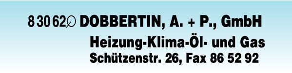 Anzeige Dobbertin A. u. P. GmbH Heizungsbau