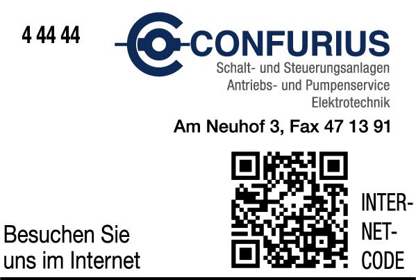 Anzeige Confurius Elektromaschinenbau und Elektrotechnik GmbH