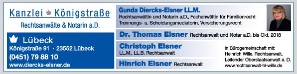 Anzeige Dr. Elsner & Partner Kanzlei Königstraße
