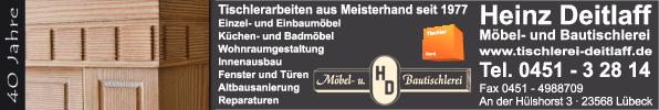 Anzeige Deitlaff Heinz Bau- und Möbeltischlerei