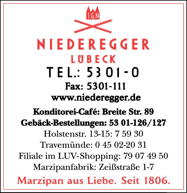 Anzeige Niederegger J. G. GmbH & Co. KG
