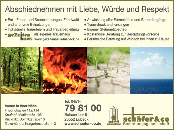 Anzeige Bestattungsges. Schäfer & Co. (GmbH & Co.) KG