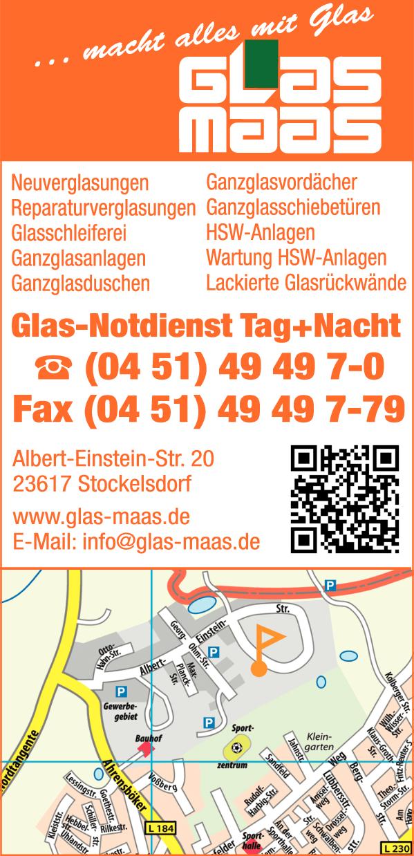 Anzeige Glaserei Maas GmbH