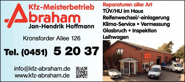 Anzeige Abraham KFZ-Reparatur - Inh. Jan-Hendrik Hoffmann