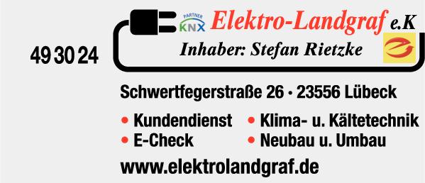 Anzeige Elektro-Landgraf e.K., Stefan Rietzke Elektrotechniker-Meister