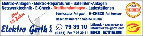 Anzeige Elektro Gerth GmbH